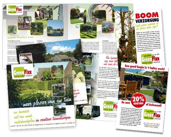 folders en flyers van GreenFixx verspreid in Diever